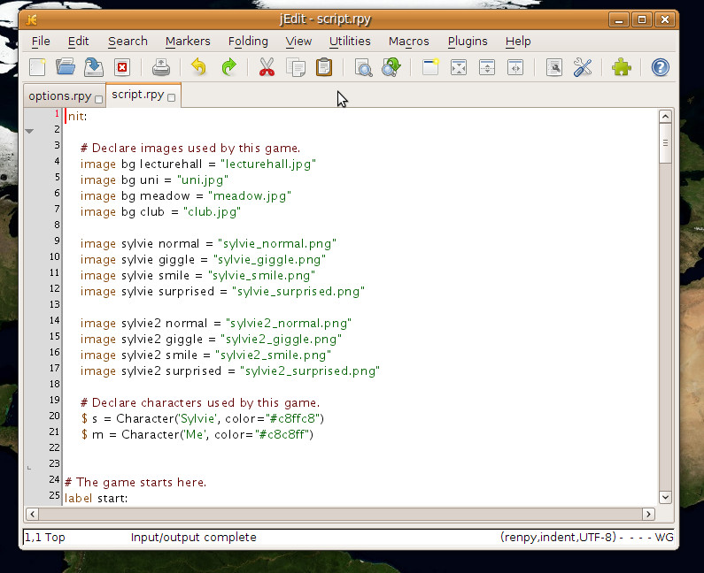 Renpy save game editor